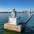 Milwaukee Breakwater Light by Randy Scherkenbach