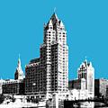 Milwaukee Skyline - 4 - Coral by DB Artist