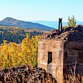 Mine Ruins In Autumn Aspen by Steve Krull
