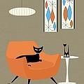 Mini Gravel Art Orange Chair by Donna Mibus