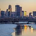 Minneapolis Skyline At Sunset by Susan Rydberg