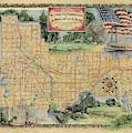 Minneapolis St. Paul Map Vintage Custom Map Art Hand Painted by Lisa Middleton