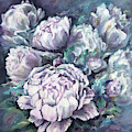 Misty Morning Peonies by Ryn Shell