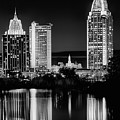 Mobile At Night Black And White by JC Findley