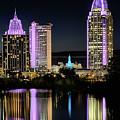 Mobile Purple Skyline by JC Findley