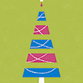 Modern Glam Christmas Tree 3- Art By Linda Woods by Linda Woods