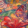 Monarch On Red by Kendall Kessler