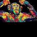 Monkey Drummer Gift For Musicians Color Design by Super Katillz