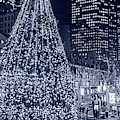 Monochrome Blue Nights Faneuil Hall Christmas Tree 2018 Boston Ma by Toby McGuire