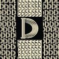 Monogram Letter Initial D Metropolitan Park Deco 1920s  by Cecely Bloom