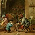 Monos En La Escuela   by Teniers  David