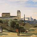 Monte Pincio, Rome by Jean-Baptiste-Camille Corot
