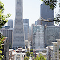 Montgomery Street San Francisco Cityscape R615 by Wingsdomain Art and Photography