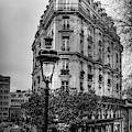 Montmartre Paris Architecture In Black And White by Georgia Fowler