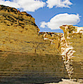 Monument Rocks Kansas Panorama 1 by Lawrence S Richardson Jr