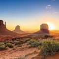 Monument Valley Twilight, Az, Usa by F11photo