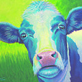 Moo Now Blue Cow by Tish Wynne