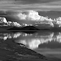 Moody Monochrome Skies Over Salar De Uyuni Bolivia by James Brunker