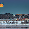 Moon Over Cheverus Hs by Colin Chase