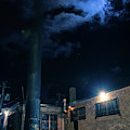 Moon Over Industrial Chicago Alley by Bruno Passigatti