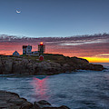 Moon Over Nubble by Rod Best