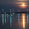 Moon Over Rockland by Ralph Staples
