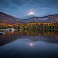Moon Set At Sandy Stream Pond, Baxter State Park by Colin Chase