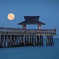 Moon-set Over Naples Pier II by Brian Jannsen