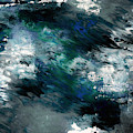 Moonlight Ocean- Abstract Art By Linda Woods by Linda Woods
