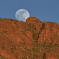 Moonrise Over The Tucson Mountains by Chance Kafka