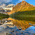 Moring Reflections In Cavell Pond by Adam Jewell