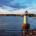 Morning Light On Fort Pickering Light Salem Ma Winter Island by Toby McGuire