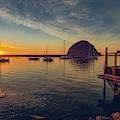 Morro Bay Harbor Sunset by Hanna Tor