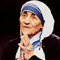 Mother Teresa - Painting by Ericamaxine Price