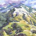 Mount Diablo With Snow by Judith Kunzle