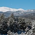 Mount Evans Winter Landscape by Cascade Colors