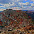 Mount Minsi And The Delaware River From Mount Tammany by Raymond Salani III