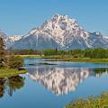Mount Moran On Snake River Landscape by Brian Harig