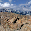 Mount Whitney In Storm Alabama Hills Eastern Sierras California by Dave Welling