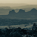 Mountain Layers Of Moab Utah - Sepia by Gregory Ballos