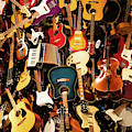 Mountain Of Guitars R942 by Wingsdomain Art and Photography