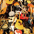 Mountain Of Guitars R957 by Wingsdomain Art and Photography