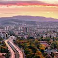 Mountain Panorama - Sofia, Bulgaria by Nico Trinkhaus