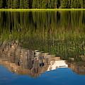 Mountain Reflection In Beirstadt Lake by Amanda Kiplinger