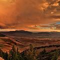 Mountain Sunset by Leland D Howard