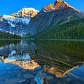 Mt. Edith Cavell Evening Reflections by Adam Jewell