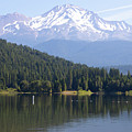 Mt Shasta And Lake Siskiyou In California R1637 by Wingsdomain Art and Photography