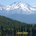 Mt Shasta And Lake Siskiyou In California R1638 by Wingsdomain Art and Photography