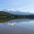 Mt Shasta And Lake Siskiyou In California R1640 by Wingsdomain Art and Photography