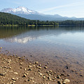 Mt Shasta And Lake Siskiyou In California R1647 by Wingsdomain Art and Photography